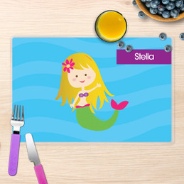 Cute Mermaid Kids Placemat