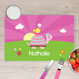 Turtle and Happy Bird Kids Placemat