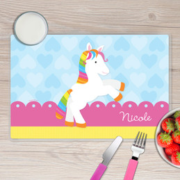 Cute Rainbow Pony Kids Placemat