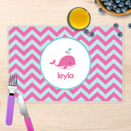 Sweet Pink Whale Kids Placemats