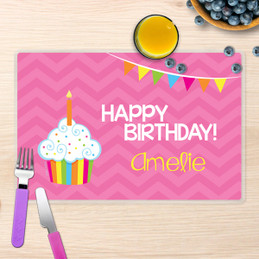 Happy Bday Girl Kids Placemats