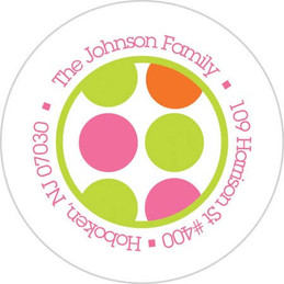 Girly Shirt Orange Address Labels Kids