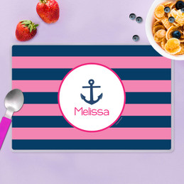 Let's Sail Pink Kids Placemat