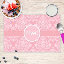 Pink Sweet Damask Kids Placemat