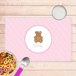 A Sweet Teddy Bear Kids Placemat