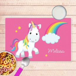 Rainbow Unicorn Kids Placemat