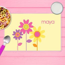 Three Spring Blooms Kids Placemat