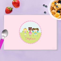Three Cheerleaders Kids Placemat