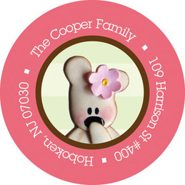 Personalized Children Labels - Cute Teddy Bear