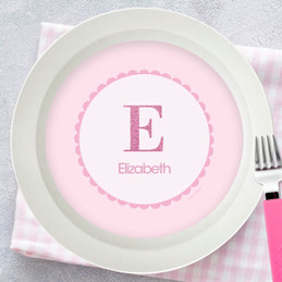 A Shiny Pink Letter Kids Bowl