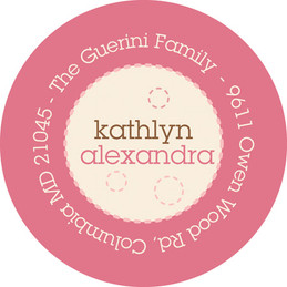 Delicate Pink Circles Kid Address Labels