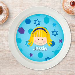 Hanukkah Joy for Girls Kids Bowl