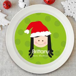 Santa's Hat Girls Kids Bowl