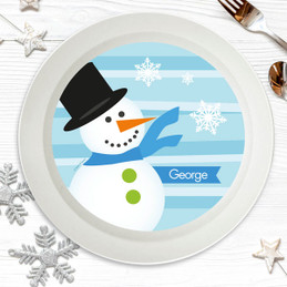 Blue Mr. Snowman Kids Bowl