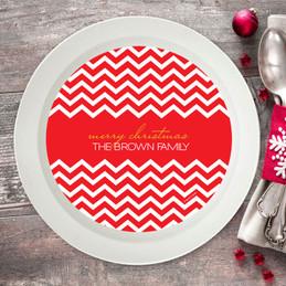 Fancy Zig Zags Holiday Bowl