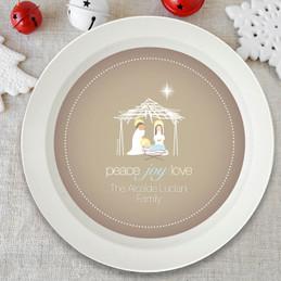 Wishful Nativity Holiday Bowl