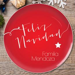 Mensaje de Feliz Navidad Christmas Plate