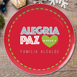 Alegria, Paz y Amor Christmas Plate