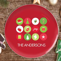 Christmas Symbols Christmas Plate