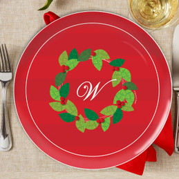 Elegant Wreath Christmas Plate