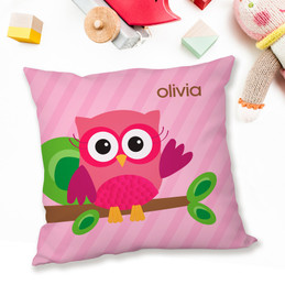 Pink Owl Be Yours Pillows