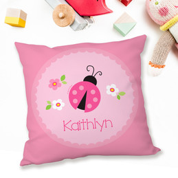 Sweet Pink Lady Bug Pillows