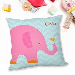 Sweet Pink Elephant Pillows