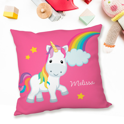 rainbow unicorn personalized pillow cases by spark  u0026 spark