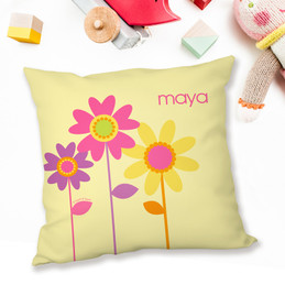 Three Spring Blooms Pillows