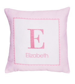 A Shiny Pink Letter Kids Pillows