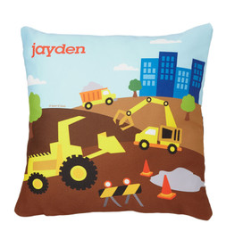 Construction Site Kids Pillows