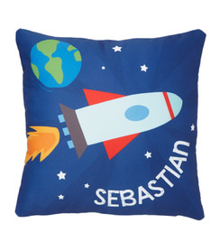 Rocket on the Sky Kids Pillows