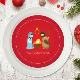 Sweet Red Nativity Holiday Bowl