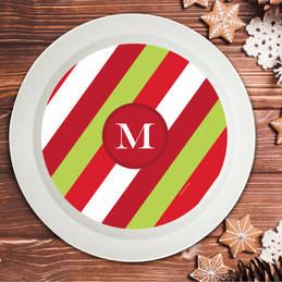 Bold Xmas Stripes Holiday Bowl
