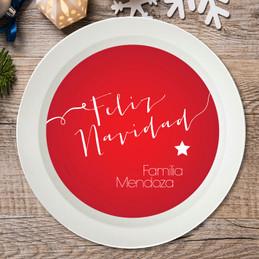Mensaje de Feliz Navidad Holiday Bowl