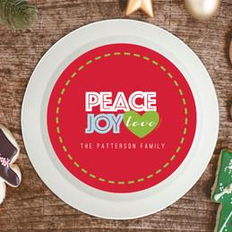 Peace, Joy and Love Holiday Bowl