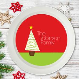 Modern Xmas Tree Holiday Bowl