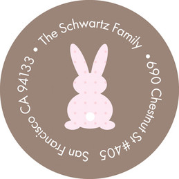Cute Address Labels - Little Bunny (Light Choc)