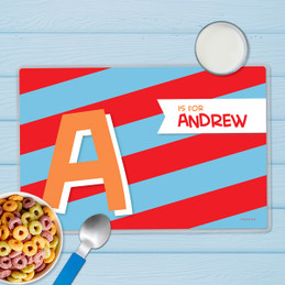 Brilliant Initial Red Kids Placemat