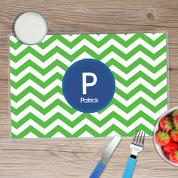 Chevron Green and Blue Kids Placemat
