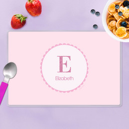 A Shiny Pink Letter Kids Placemat