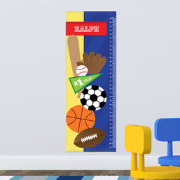 My Love For Sports Kids Growth Chart