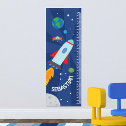 Rocket On The Sky Kids Growth Chart