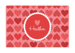 Lovely Hearts Kids Placemat
