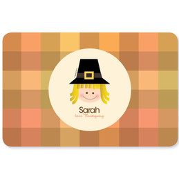 Pilgrim Girl Kids Placemat
