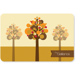 Fall Trees Holiday Placemat