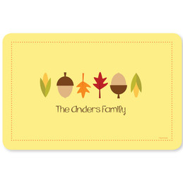 Fall Leaves and Cones Holiday Placemat