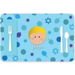 Hanukkah Joy Boy Kids Placemat