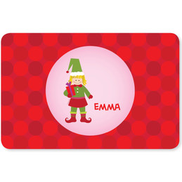 Cute Elf Girl Kids Placemat