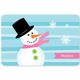 Pink Mr. Snowman Kids Placemat